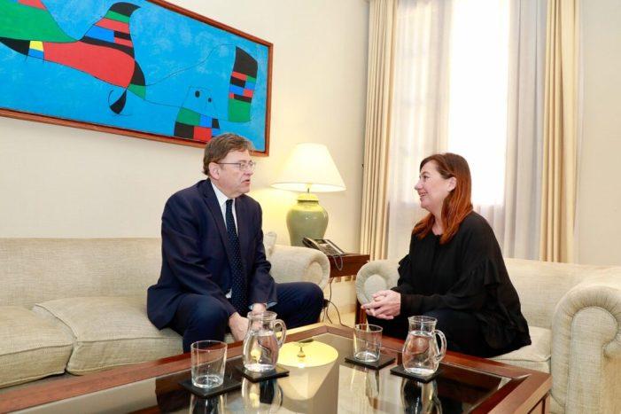 La Comunitat Valenciana i Balears promouen una 'aliança efectiva' per a prioritzar millores en el finançament i impulsar l'arc mediterrani