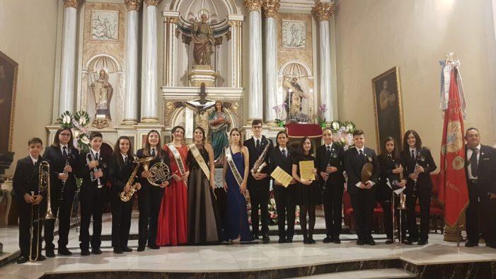 La Sociedad Artística Musical de Benifaió celebró la festividad en honor a Santa Cecilia