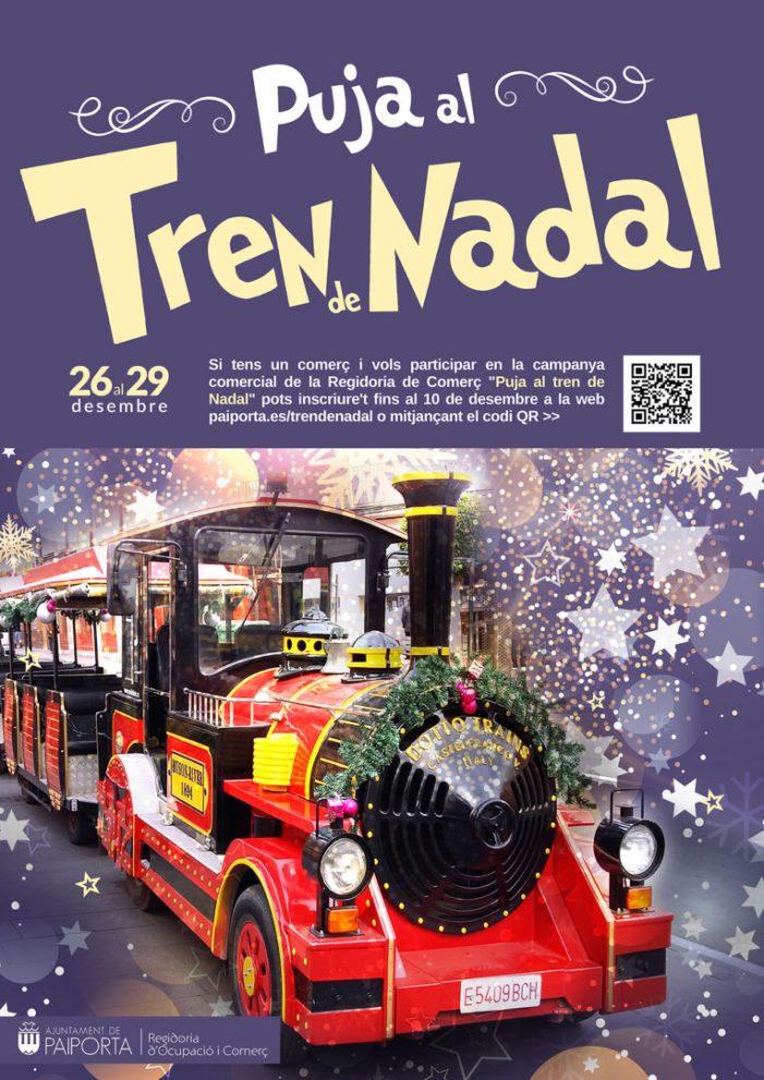 Els comerços de Paiporta ja poden apuntar-se a la campanya 'Puja al Tren del Nadal'