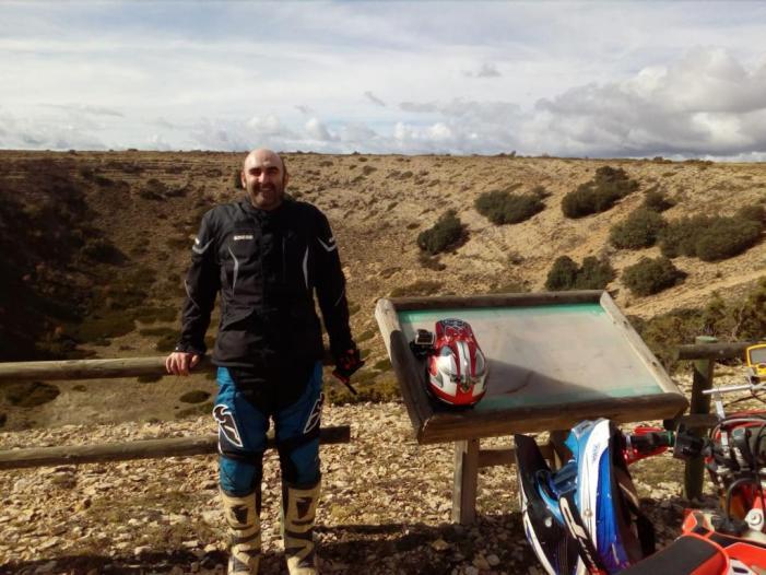 Antonio Richart, del Club de Motociclisme d'Almussafes, tercer en el Màster 40 d'Enduro