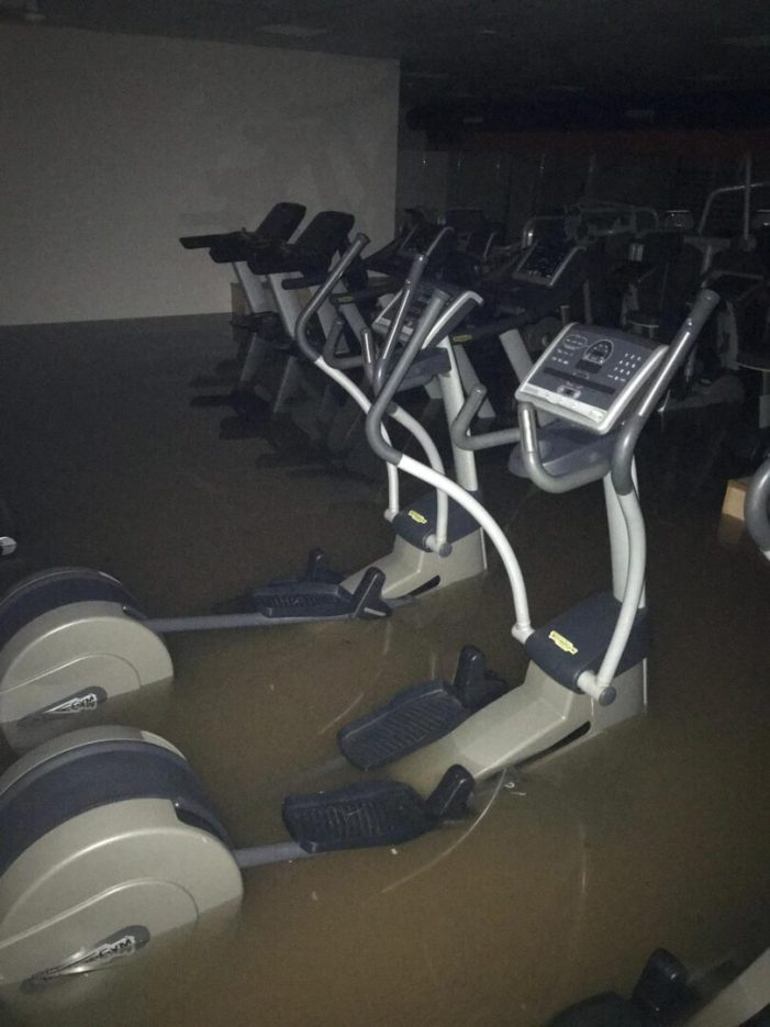Recta final de les reparacions del gimnàs esportiu