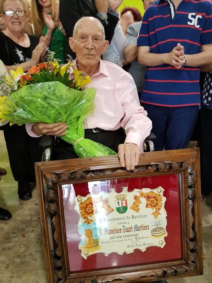Mor el centenari de Benifaió Francisco Duart Martínez als 101 anys
