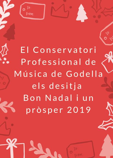 El conservatori de Godella ens desitja un bon Nadal amb un concert i una cercavila