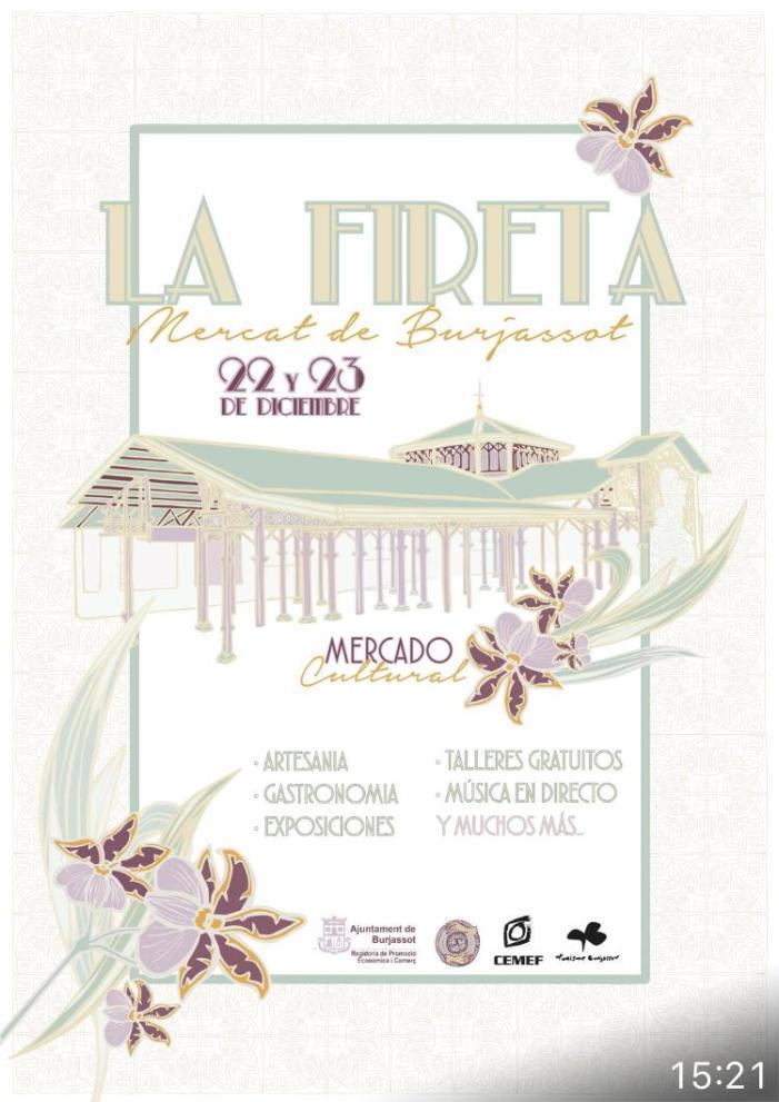 """""""La Fireta"""" d'Avalarte arriba aquest cap de setmana a l'antic Mercat Municipal de Burjassot"""