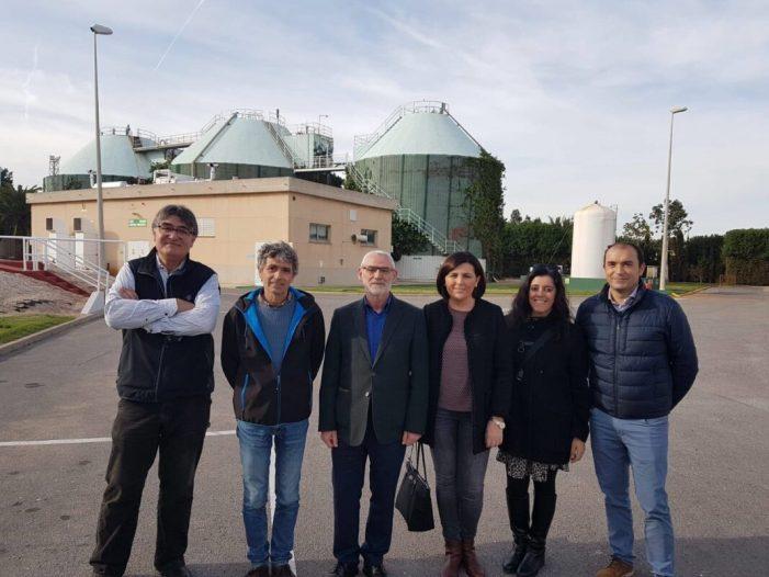 L'alcalde d'Alboraia visita la depuradora de la conca del Carraixet