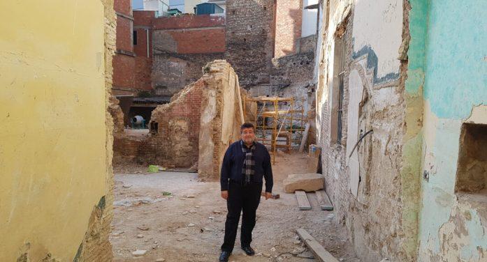 Alzira adequarà l'espai per tal de visibilitzar l'arc medieval descobert al carrer Chulvi