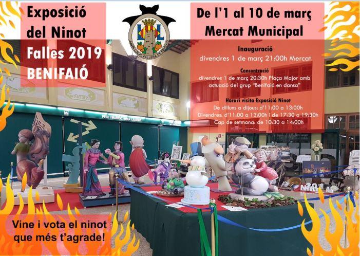 Benifaió obrirà aquest cap de setmana la festa fallera 2019 amb l'Exposició del Ninot, la Cavalcada i la 'Crida'