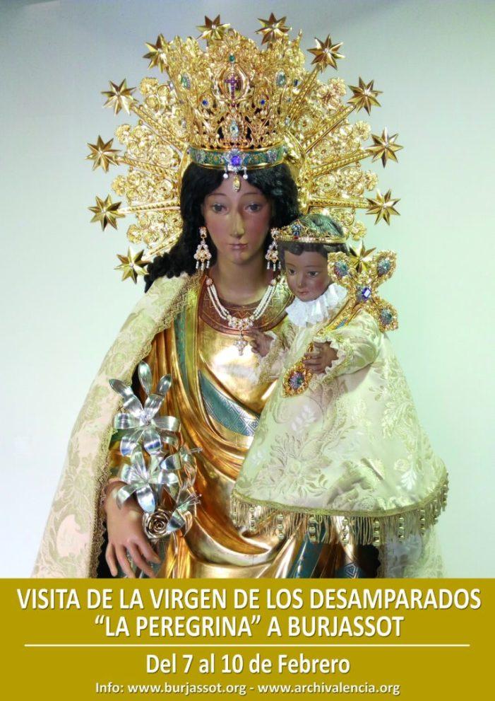 """Burjassot rebrà la visita de la Verge dels Desemparats, """"La Pelegrina"""" del 7 al 10 de febrer"""