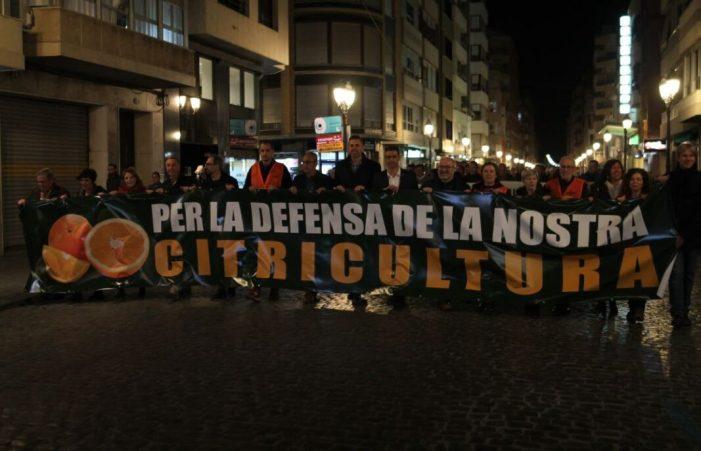 La Ribera Baixa ix al carrer pel futur del seu camp i els seus llauradors