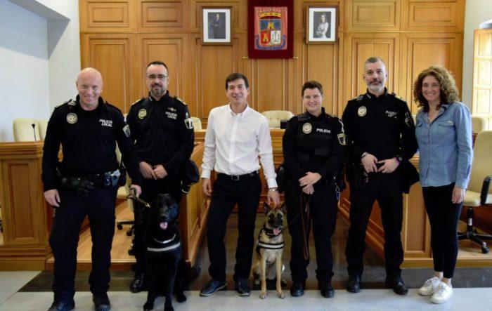 Tinent Ripley, una jove pastora belga malinois s'incorpora a la Unitat Canina de la Policia Local de Burjassot