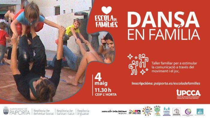 L'Escola de Famílies de Paiporta ofereix tallers de dansa i vincle afectiu segur