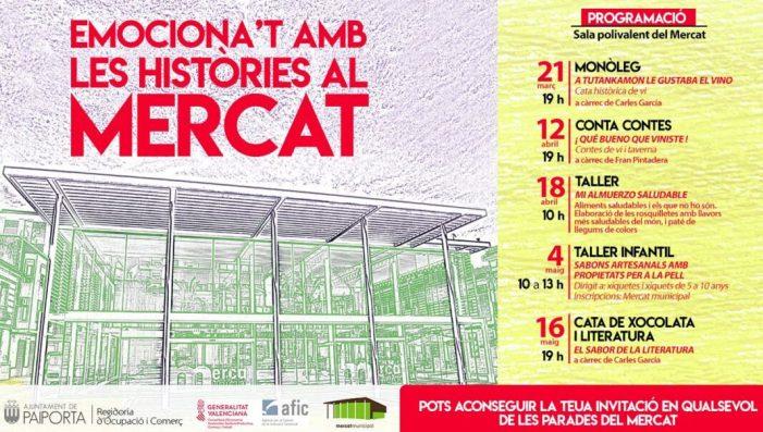 Monòlegs, històries, tasts i tallers al Mercat Municipal de Paiporta