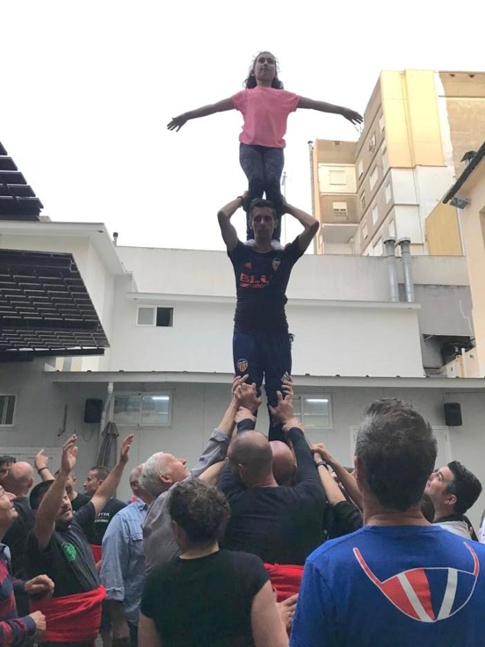 La Muixeranga d'Algemesí celebra que arriba a 500 membres