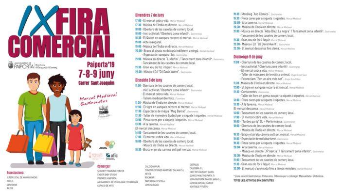 Música en directe, animació, monòlegs, gastronomia i entreteniment infantil en la Fira Comercial de Paiporta