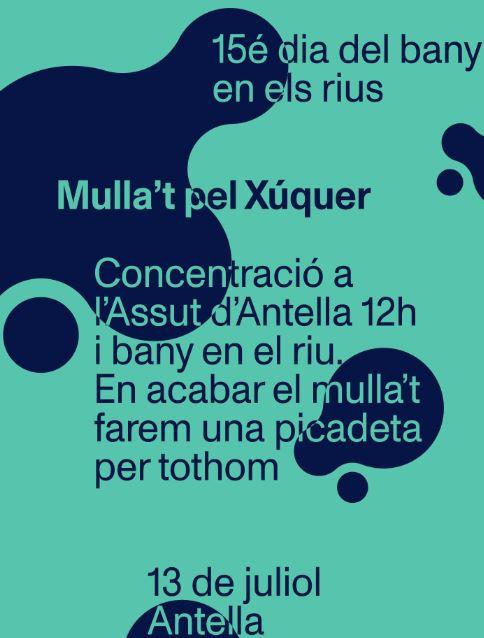 Xúquer Viu celebrarà el 15é Mulla't pel Xúquer el dissabte 13 a Antella