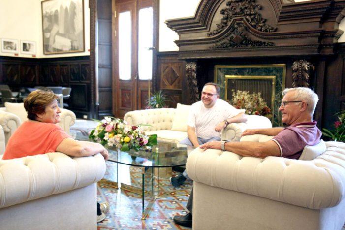 L'alcalde de València, Joan Ribó, ha rebut hui el delegat territorial de l'ONCE-CV, José Manuel Pichel