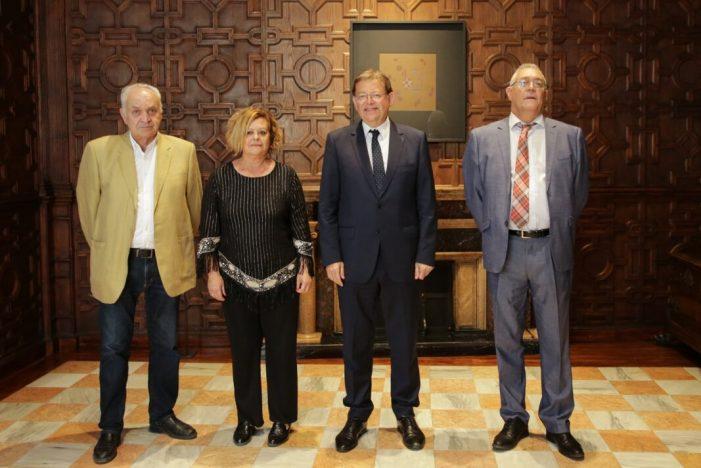 Ximo Puig rep en audiència la presidenta de la Unió Nacional d'Entitats Festeres de Moros i Cristians