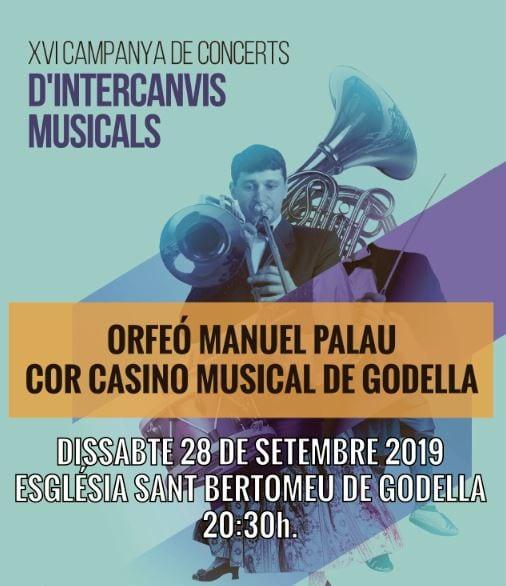 Casino Musical i l'orfeó Manuel Palau oferiran un concert intercanvi en Godella
