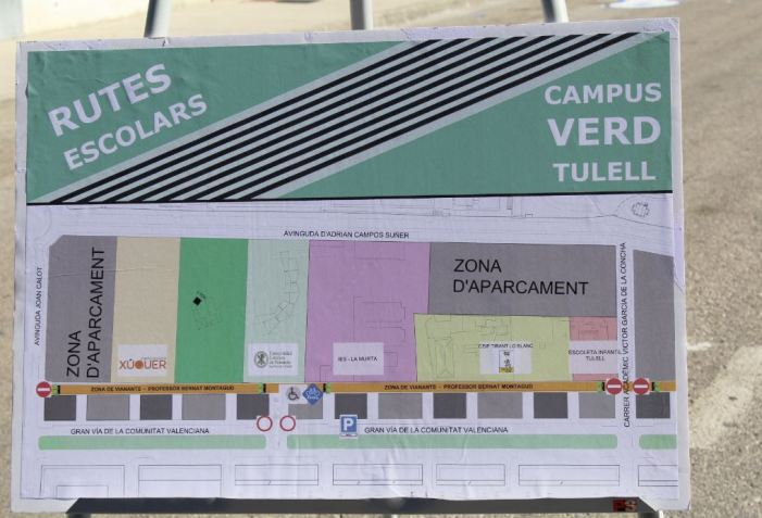 El campus Verd Tulell convertix les rutes escolars en zona per a vianants
