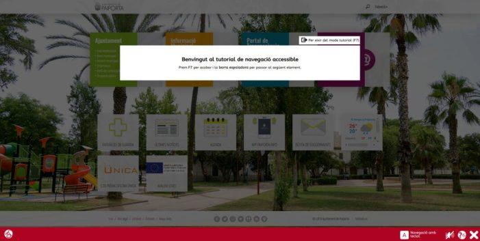 Més de 2.600 persones usuàries naveguen de forma accessible al web de l'Ajuntament de Paiporta
