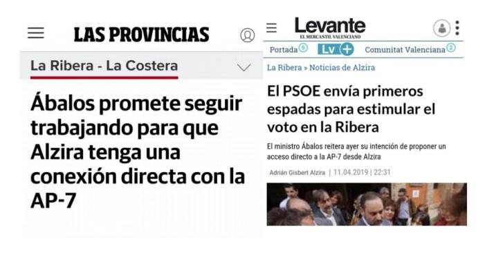 Ciutadans critica la falta d'implicació del PSOE amb la connexió de l'AP-7