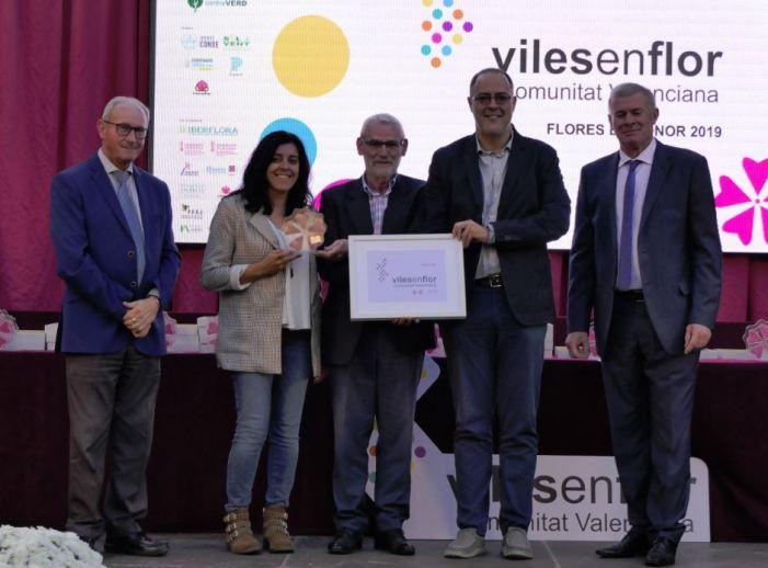 Alboraia premiada en la II Gala de Vils en Flor Comunitat Valenciana