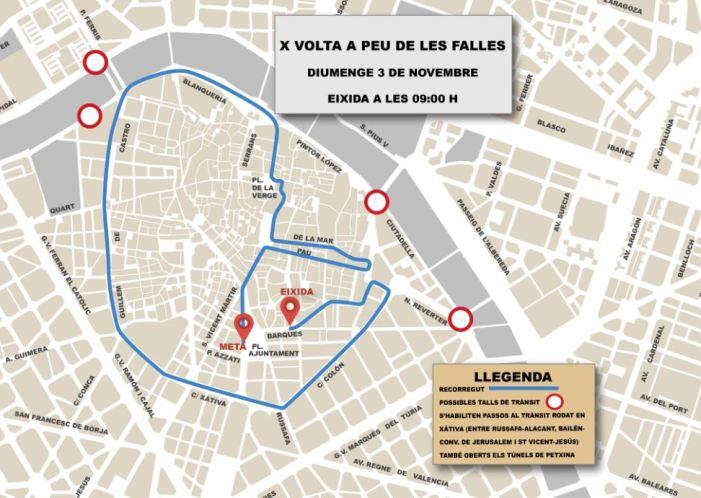 Festes i Esport s'unixen en la X Volta a Peu de les Falles/ca Runners de l'Horta Castellar-l'Oliveral
