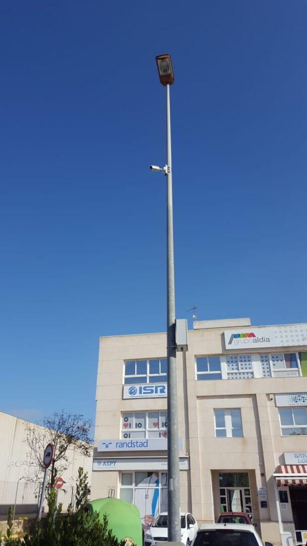 L'Ajuntament d'Almussafes continua amb la instal·lació de càmeres de videovigilància en el Polígon Industrial Joan Carles I