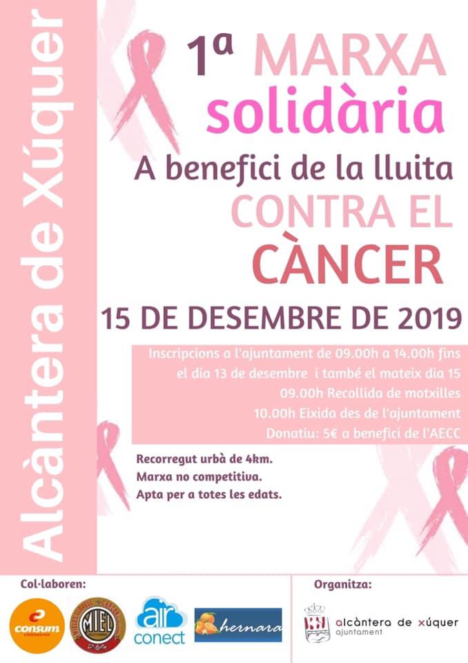 Alcàntera de Xúquer celebra aquest diumenge la seua primera marxa solidària per a recaptar fons contra el càncer