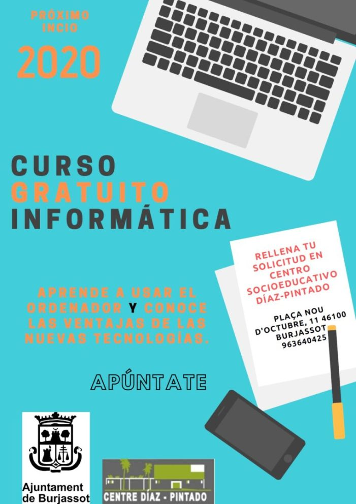 Nous cursos gratuïts d'alfabetització informàtica a Burjassot