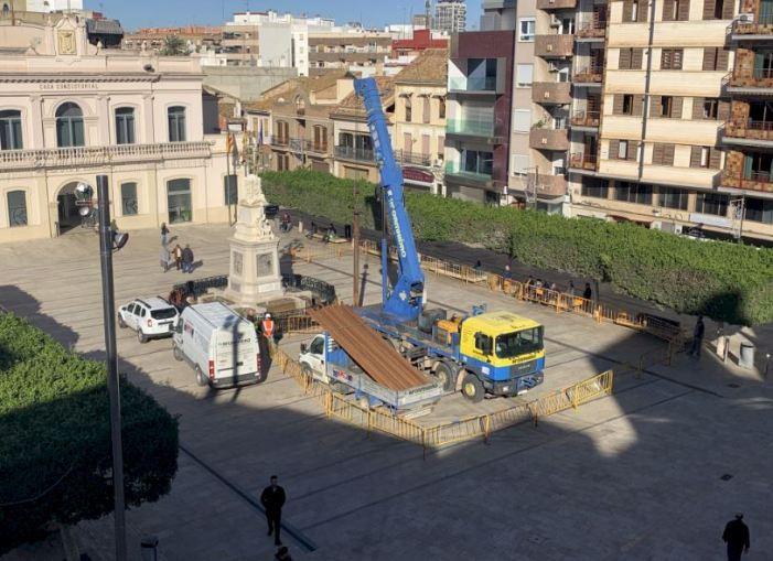 Alfafar inicia les labors de manteniment del pou de la Plaça de l'Ajuntament