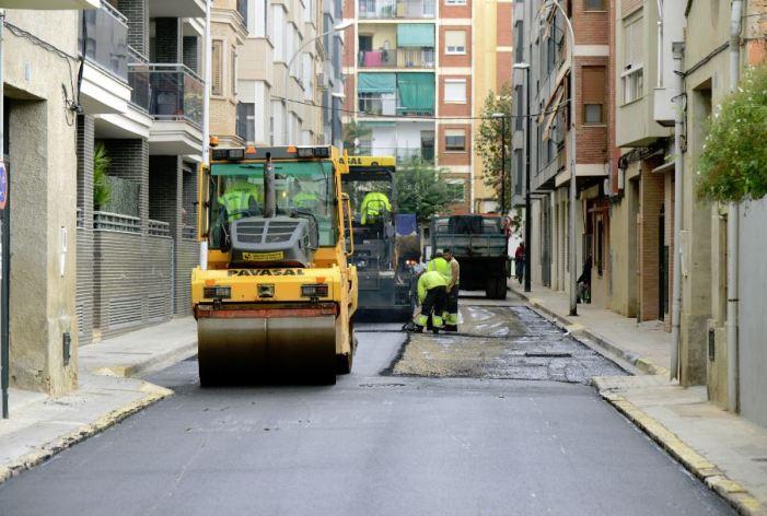 Paiporta renova l'asfaltat de sis carrers de la localitat