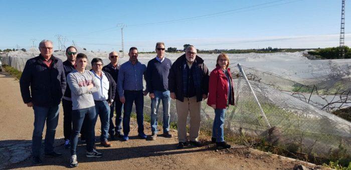 Francisco Rodríguez Mulero, secretari autonòmic d'Agricultura, visita Picassent per conèixer les zones més afectades pel temporal