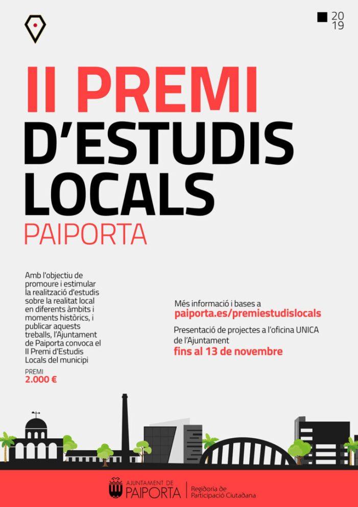 Un treball sobre el ferrocarril a Paiporta  guanya la segona Edició del Premi d'Estudis Locals