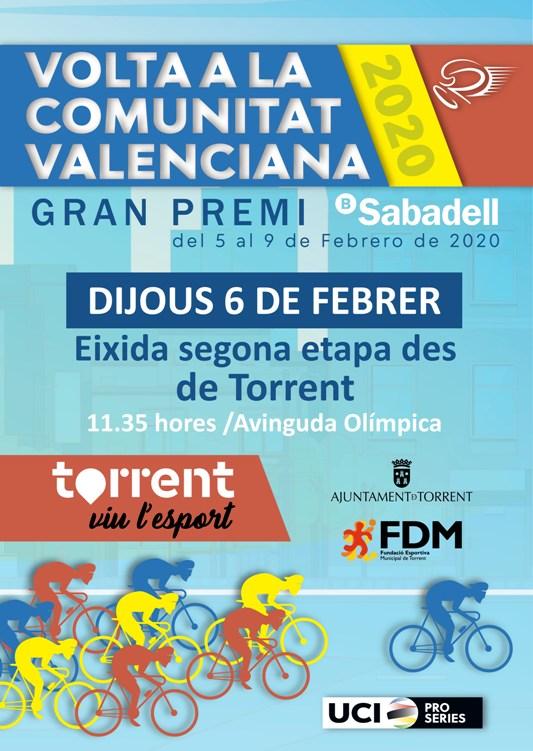 Torrent calfa per a donar eixida a la segona etapa de la Volta Ciclista a la Comunitat Valenciana
