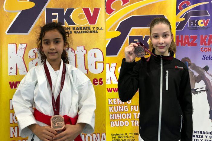 Dos bronzes en la Lliga Autonòmica de karate per al club paiportí Tamashi-Do