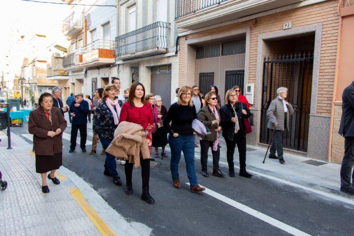Finalitzades les obres de reurbanització d'un tram del carrer Major  de Picassent