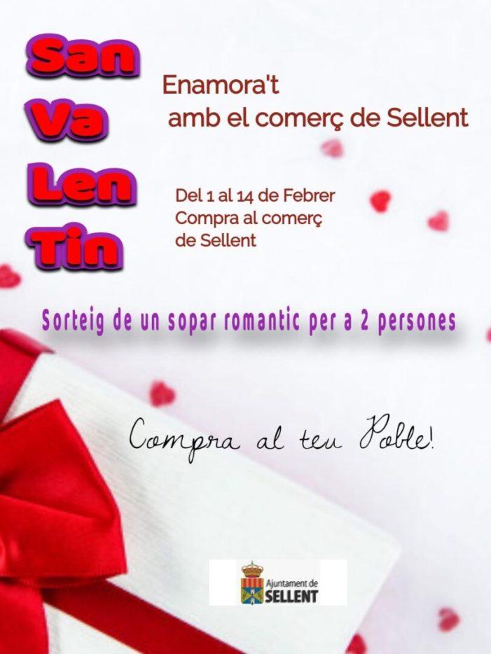 Sellent busca que els veïns s'enamoren en Sant Valentín del comerç local