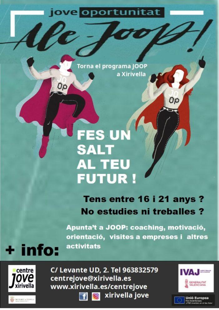 Xirivella dona la benvinguda a 12 joves del programa JOOP 2020