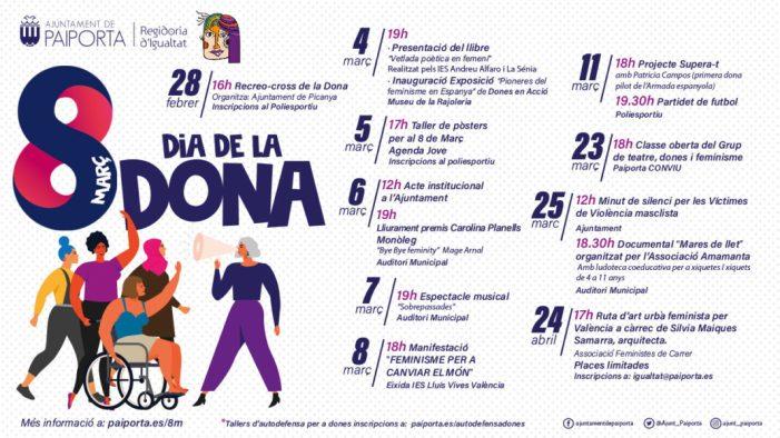 Paiporta celebrarà el 8 de Març, Dia de la Dona, amb activitats enfocades a l'apoderament i la visibilització de la igualtat