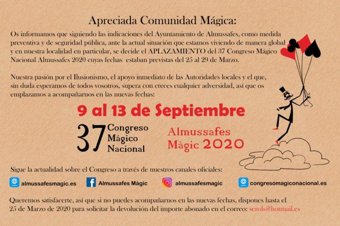 La Trobada Internacional de Màgia d'Almussafes se celebrarà del 9 al 13 de setembre