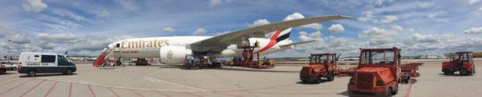 El quinzé avió amb material sanitari per a la Comunitat Valenciana ha aterrat aquesta vesprada en l'aeroport de Barajas