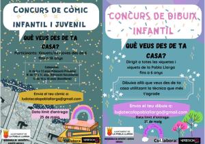 La Pobla Llarga inicia un concurs de dibuix i un altre de còmic per a xiquetes i xiquets