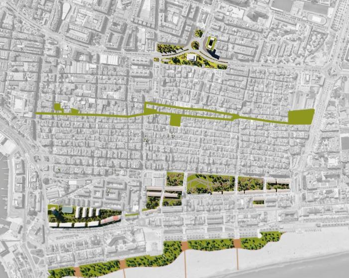 El PEC de Cabanyal- Canyamelar convertix 135.892 m² en zona verda i amplia l'espai per als vianants