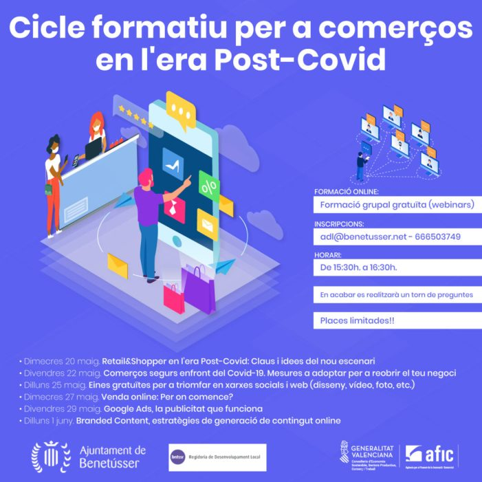 Cursos per al comerç local Post-Covid a Benetússer