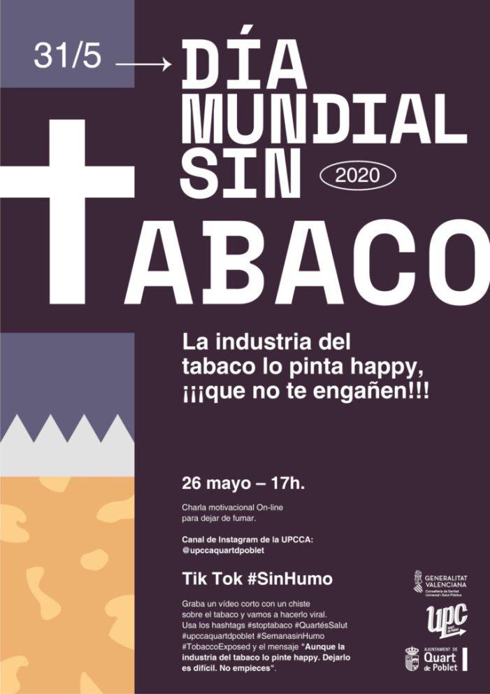 Quart de Poblet celebra el Dia Mundial sense Tabac amb activitats a través de les xarxes socials