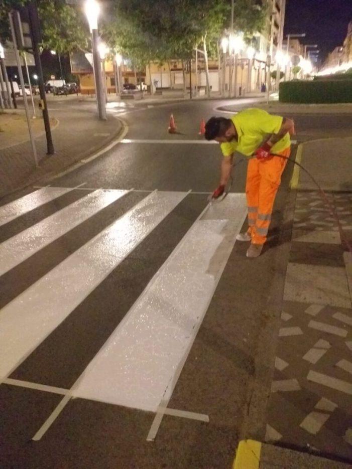 Alaquàs realiza treballs de repintat de pintura viària als carrers del municipi