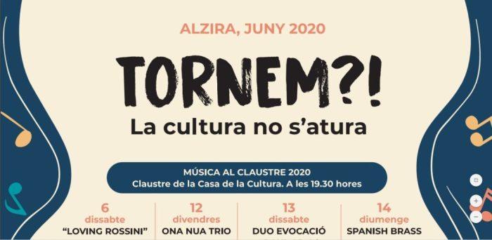 Alzira presenta una nova programació cultural adaptada