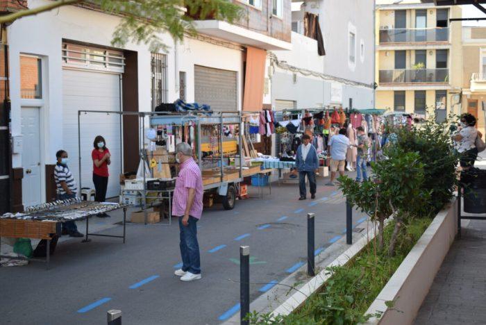 El mercat ambulant torna a Benetússer amb mesures de seguretat especials
