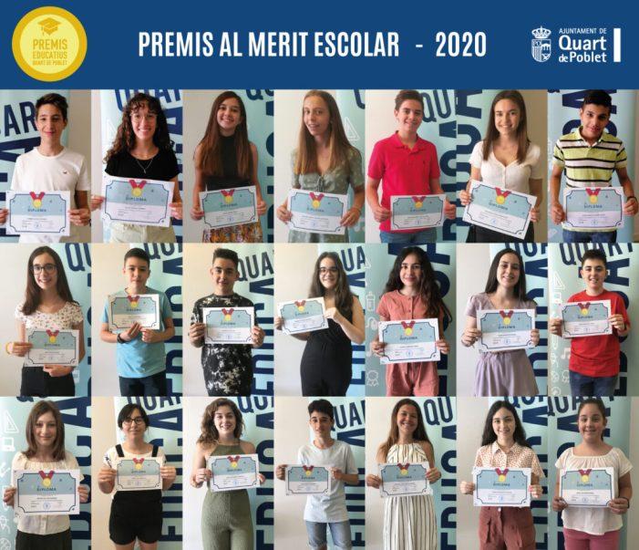 L'Ajuntament de Quart de Poblet lliurament els IX Premis el mèrit escolar
